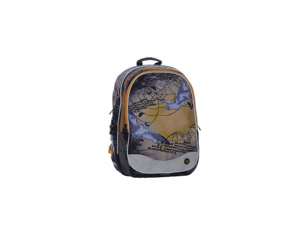 Bagmaster Školní batoh EV07 0115 B BROWN NETOPÝR  + Pouzdro zdarma