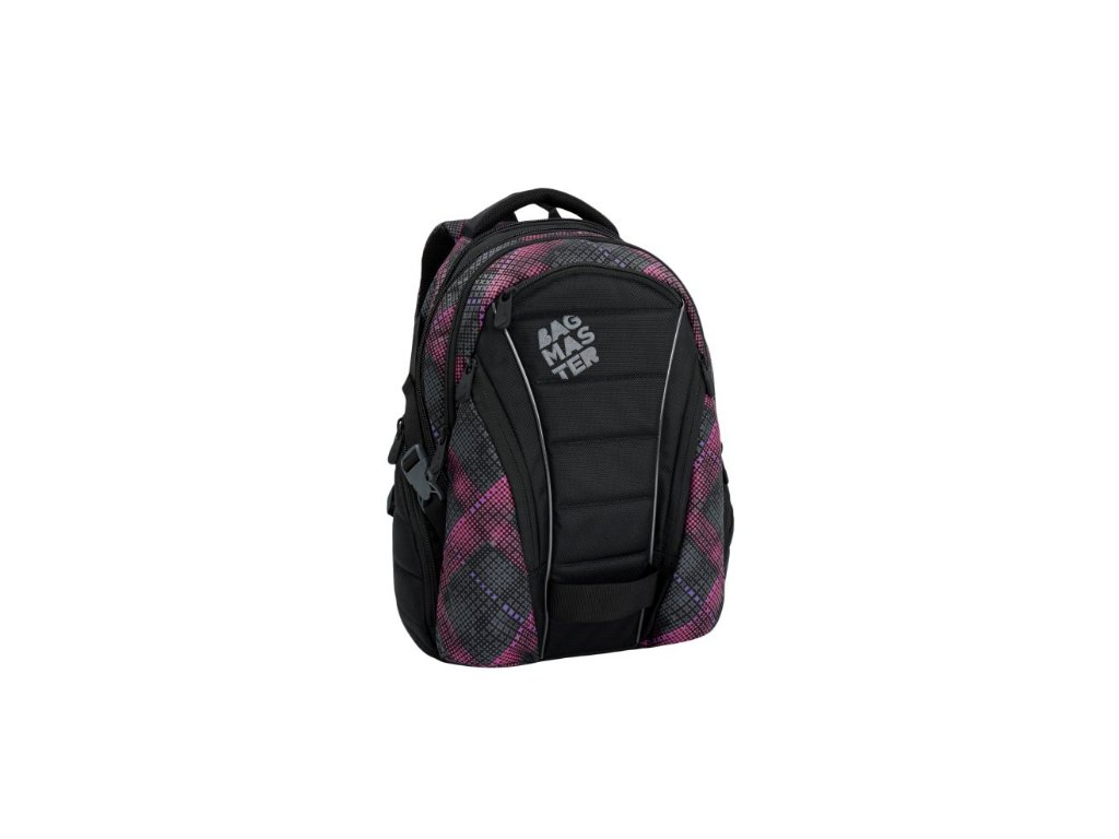 Bagmaster BAG 6 E BLACK/PINK/VIOLET Dívčí studentský batoh