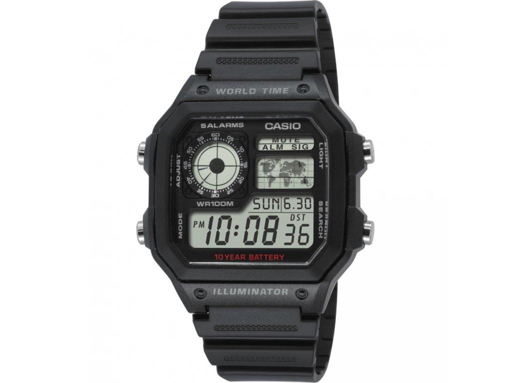 Casio AE 1200WH-1A - pánské digitální hodinky