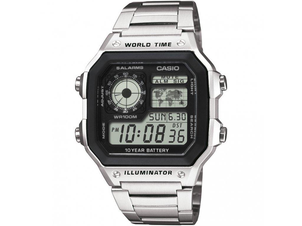 b14a4b55c93 Casio AE 1200WHD-1A - pánské digitální hodinky - Brašničky.cz