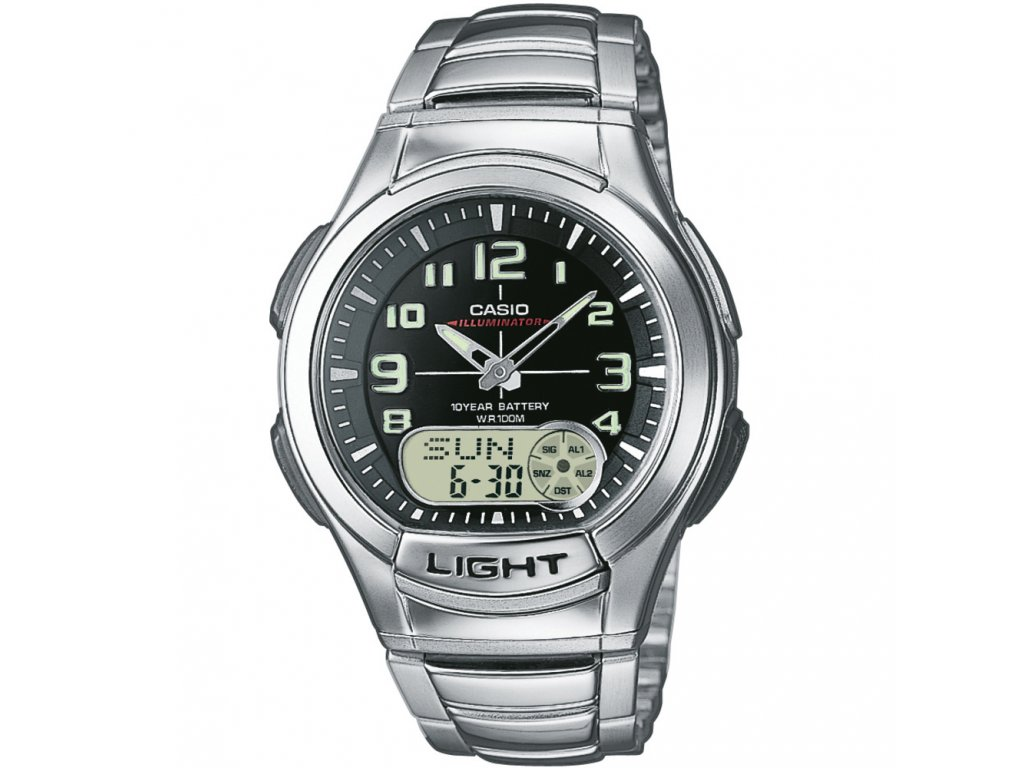 Casio AQ 180D-1B - pánské hodinky  + Pouzdro zdarma