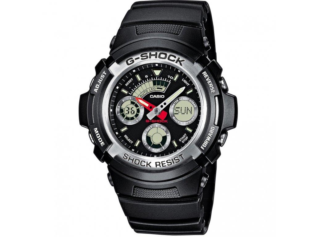 CASIO AW 590-1A G-SHOCK - pánské hodinky  + PowerBanka nebo pouzdro zdarma