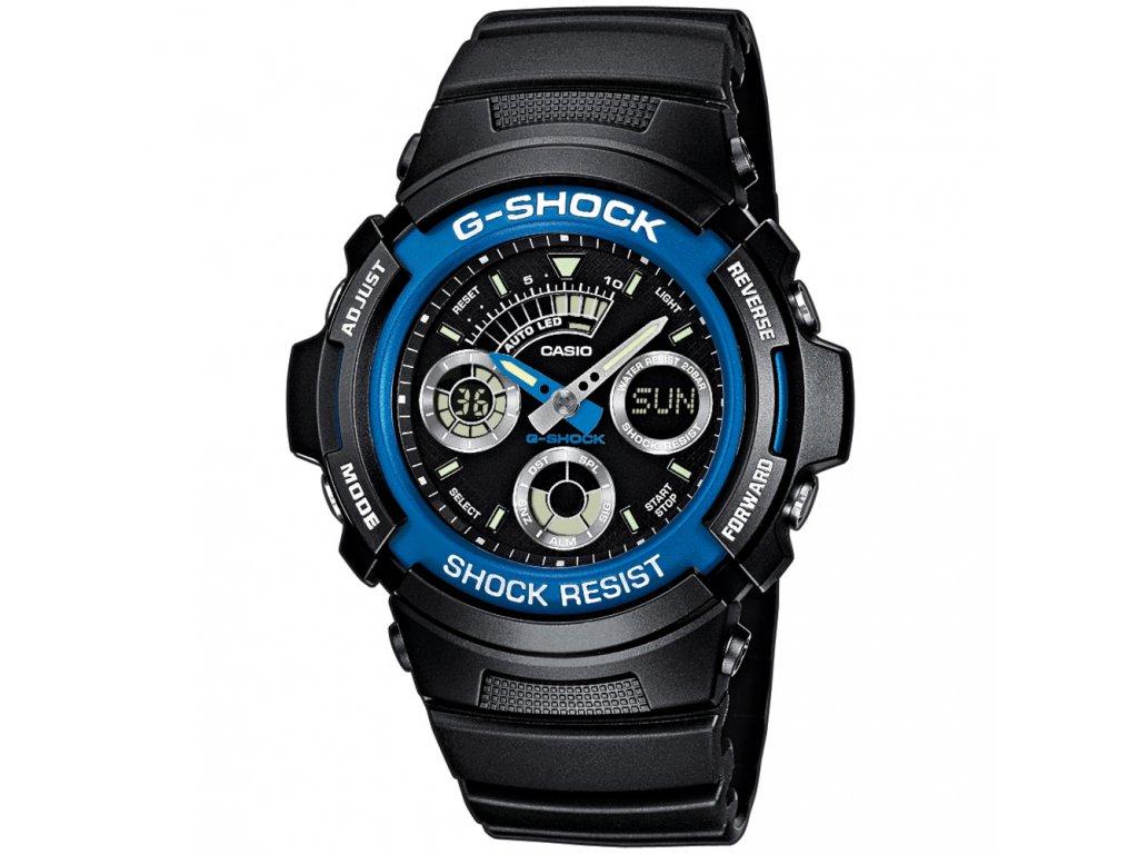 CASIO AW 591-2A - pánské hodinky  + PowerBanka nebo pouzdro zdarma