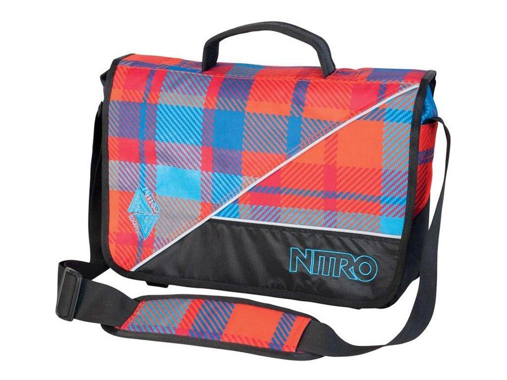 NITRO taška EVIDENCE BAG plaid red-blue