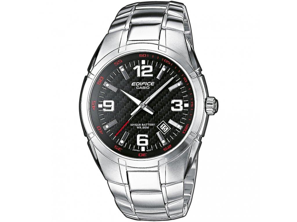CASIO EF 125D-1A - pánské hodinky  + Pouzdro zdarma