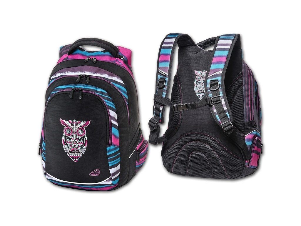 Studentský batoh Dark Owl  + Pouzdro zdarma