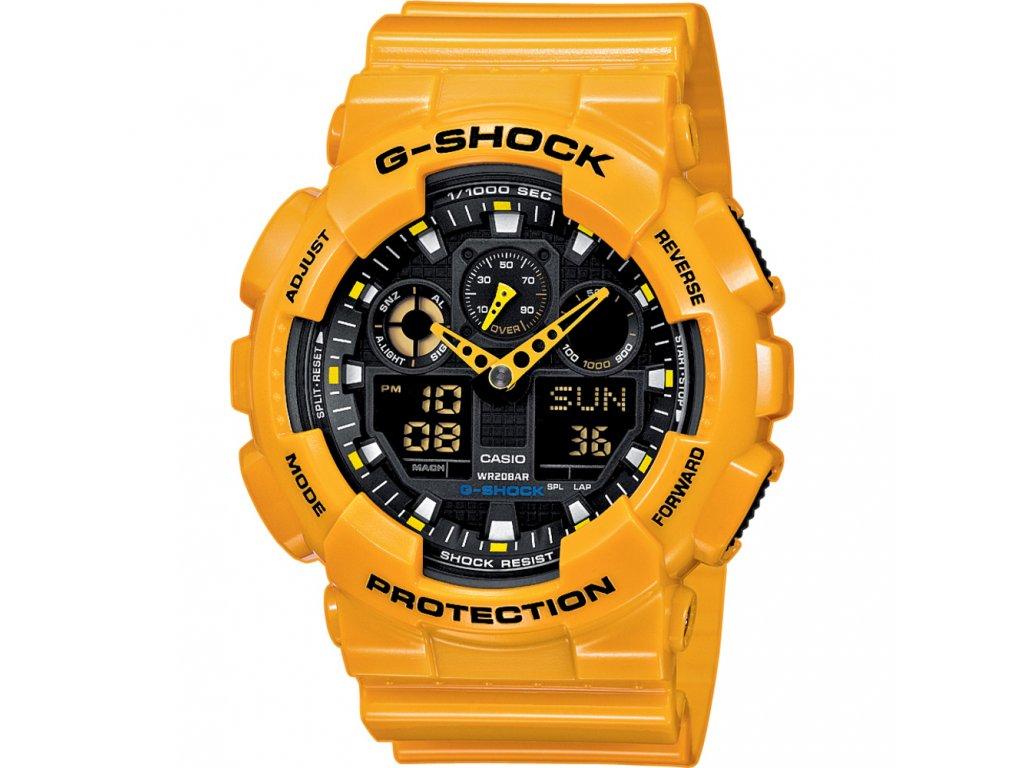 Casio GA 100A-9A - pánské hodinky  + PowerBanka nebo pouzdro zdarma