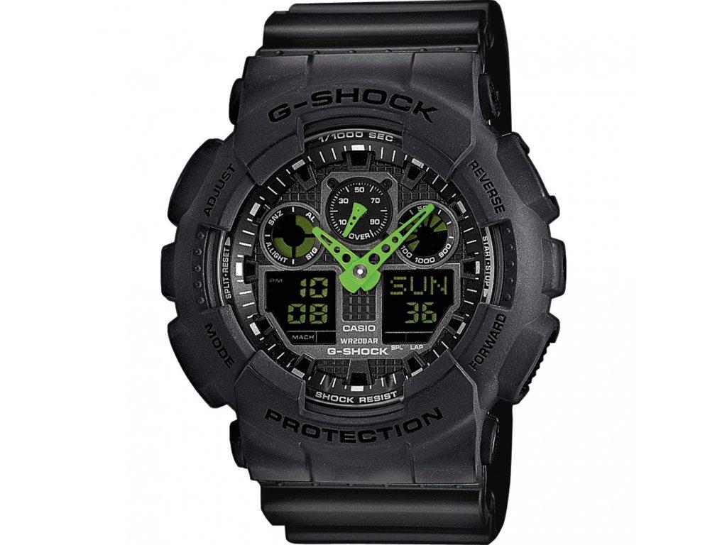 Casio GA 100C-1A3 - pánské hodinky  + PowerBanka nebo pouzdro zdarma