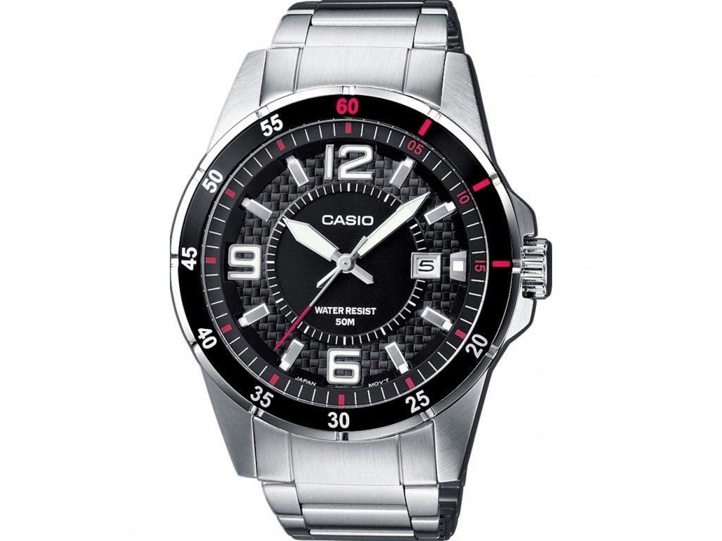 Casio MTP 1291D-1A1 - Pánské analogové hodinky  + Brašna zdarma