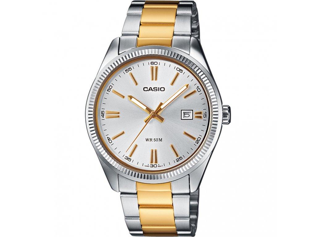 Casio MTP 1302SG-7A - Pánské analogové hodinky  + Pouzdro zdarma