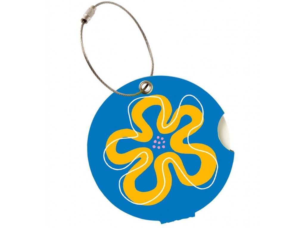 Jmenovka na kufr Addatag - Flower blue