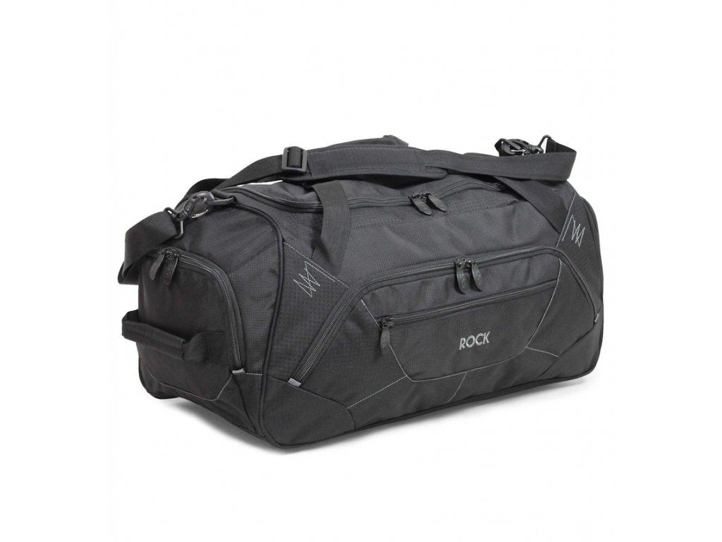 Cestovní taška ROCK HA-0043 - černá  + Pouzdro zdarma