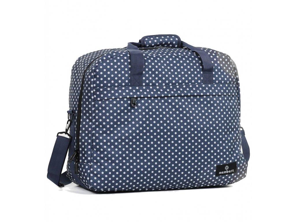 Cestovní taška MEMBER'S SB-0036 - modrá/bílá