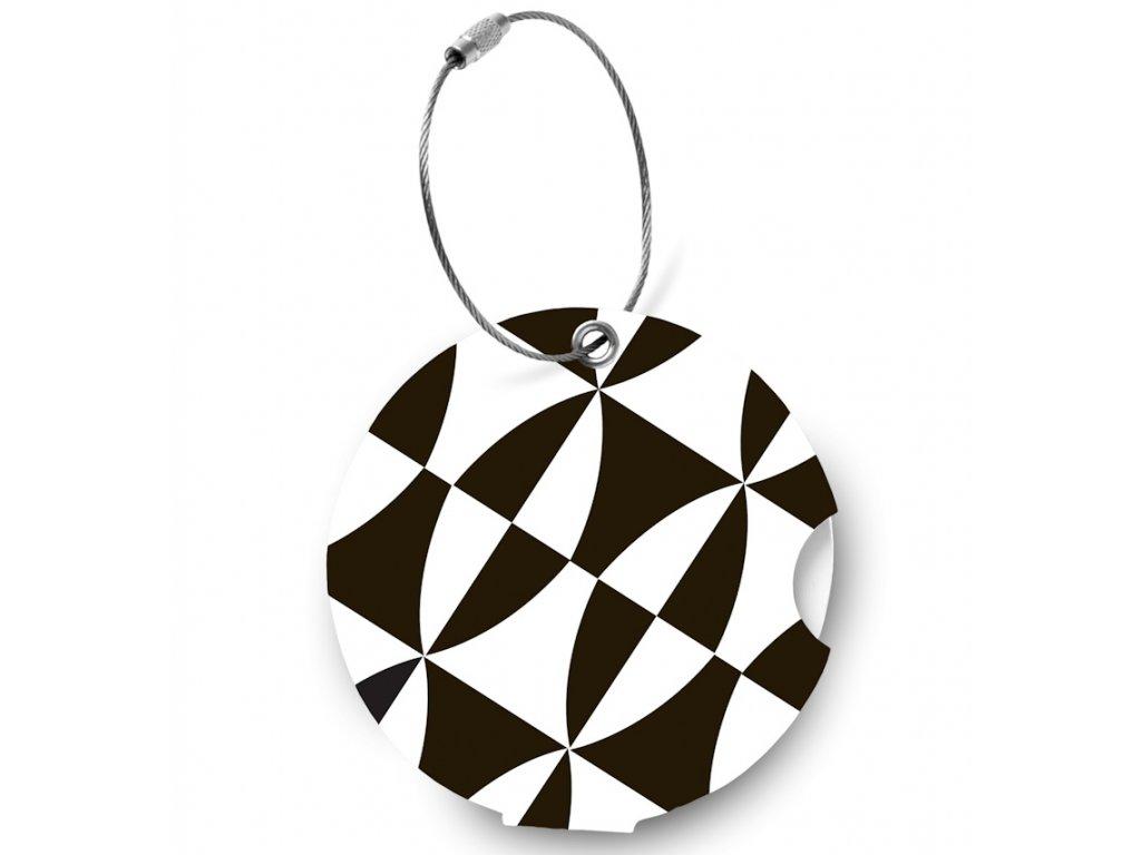 Jmenovka na kufr Addatag - Black and white