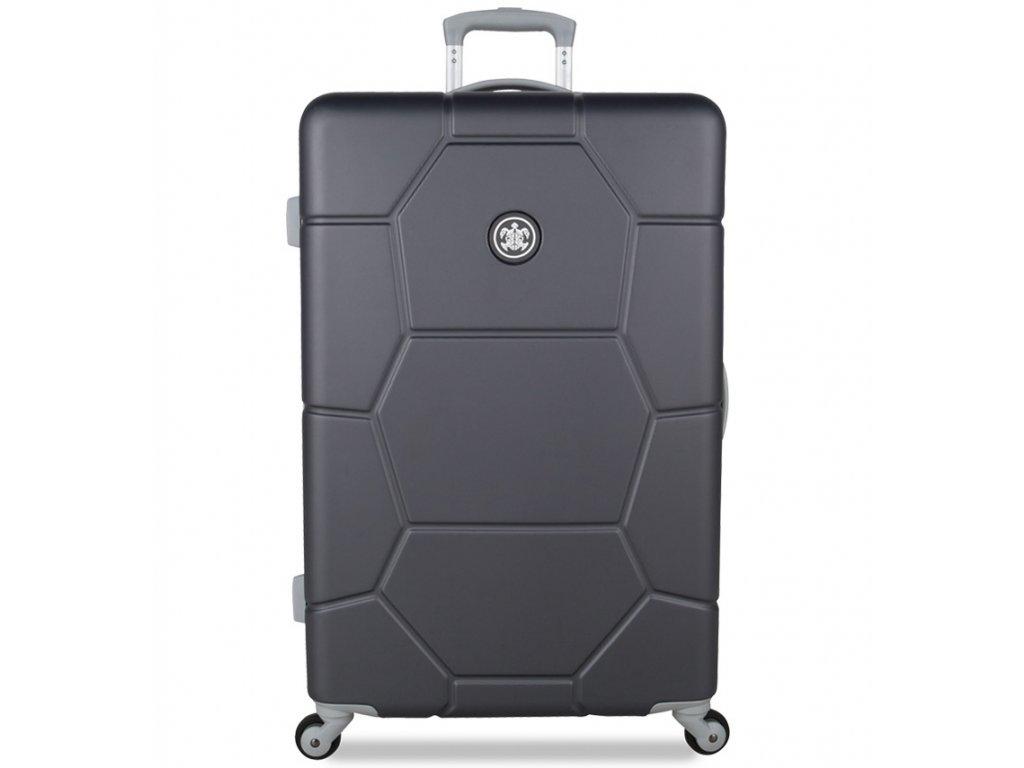 Cestovní kufr SUITSUIT® TR-1226/3-L ABS Caretta Cool Gray  + Pouzdro zdarma