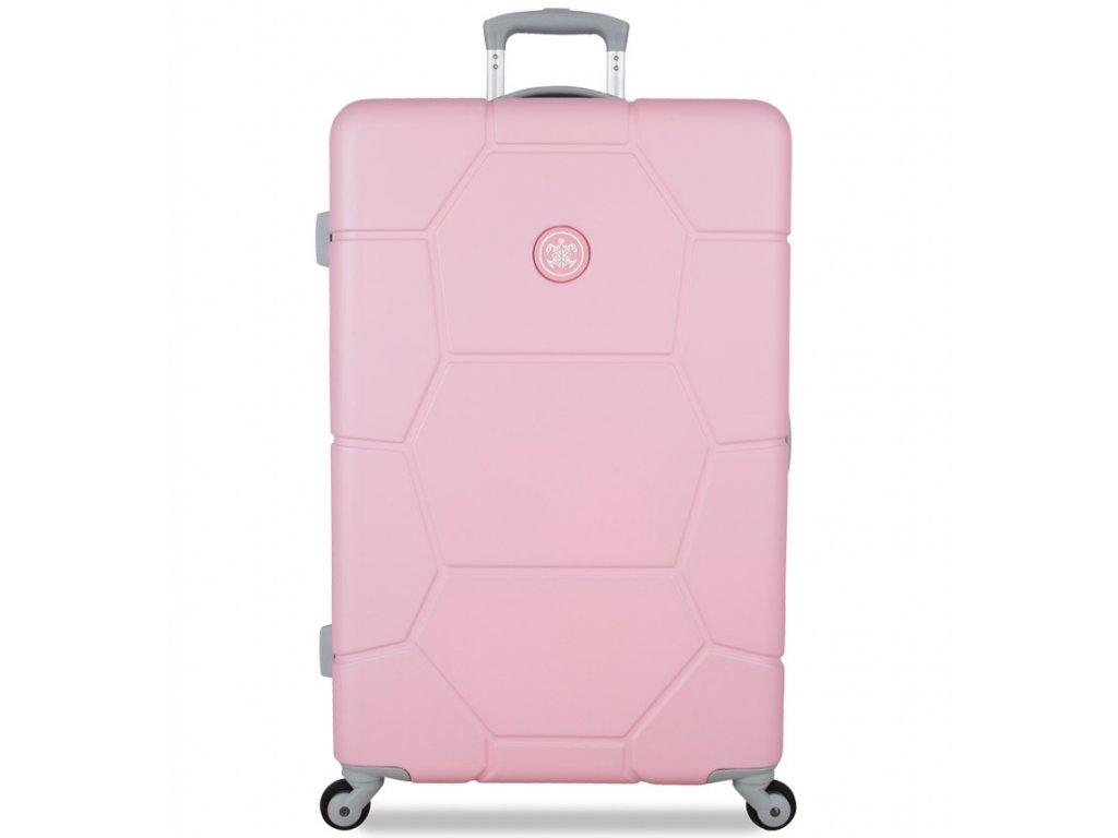 Cestovní kufr SUITSUIT® TR-1231/3-L ABS Caretta Pink Lady  + PowerBanka nebo pouzdro zdarma