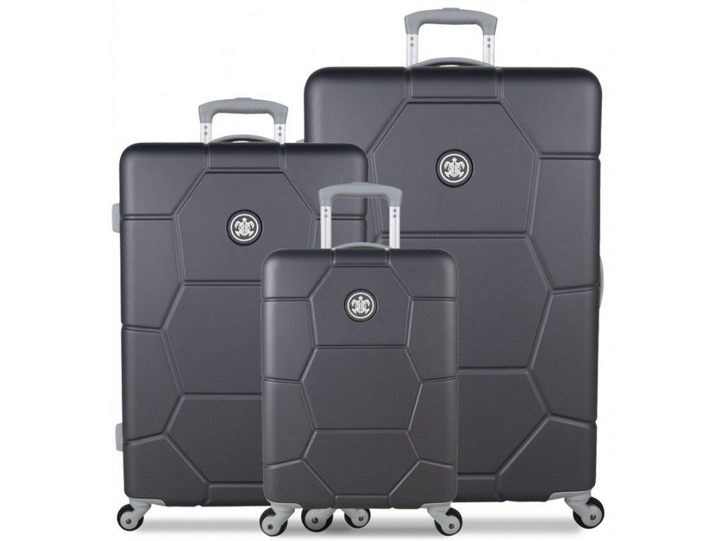 Sada cestovních kufrů SUITSUIT® TR-1226/3 ABS Caretta Cool Gray  + Pouzdro zdarma