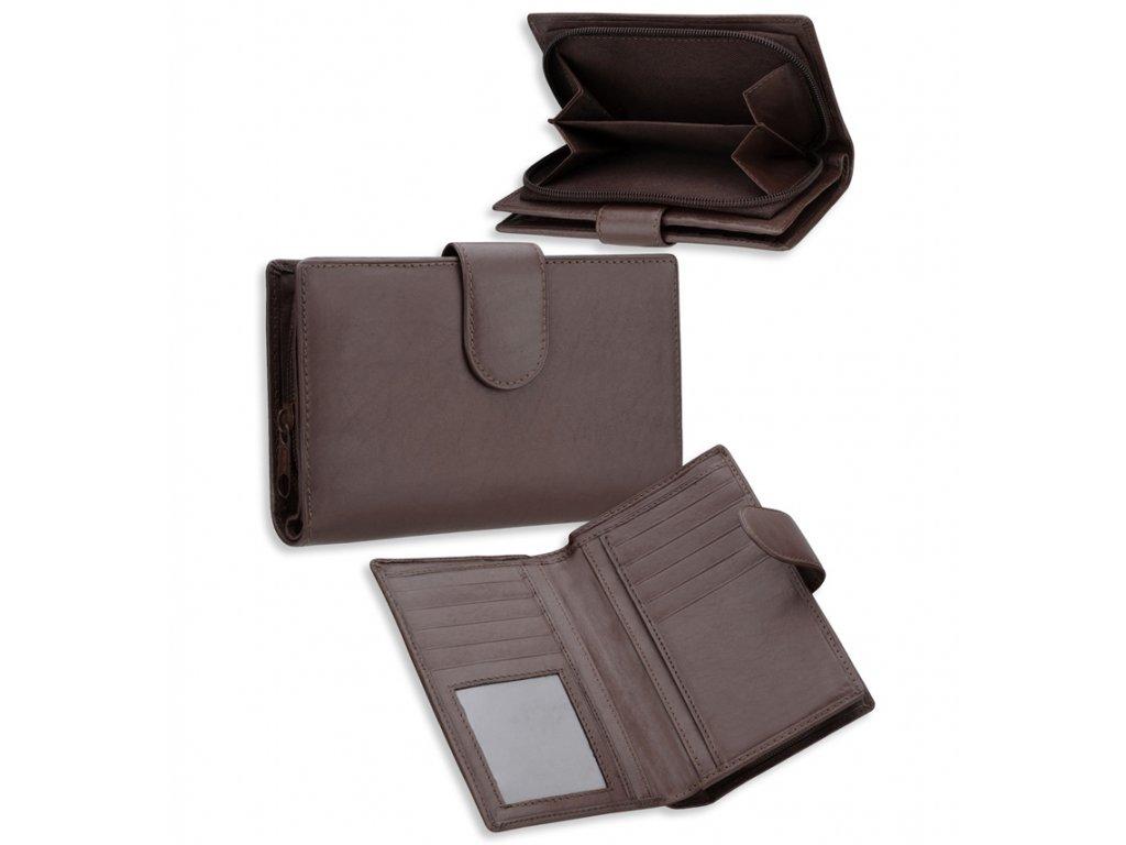 Dámská kožená peněženka METRO P08 - hnědá