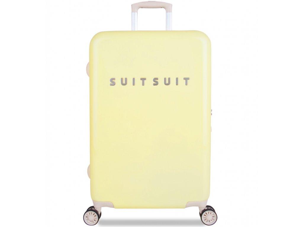 Cestovní kufr SUITSUIT® TR-1220/3-M - Fabulous Fifties Mango Cream  + Pouzdro zdarma