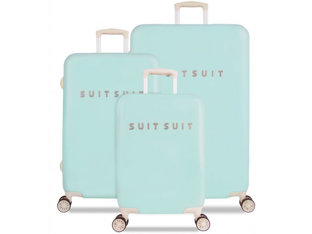 Sada cestovních kufrů SUITSUIT® TR-1222/3 - Fabulous Fifties Luminous Mint  + Pouzdro zdarma