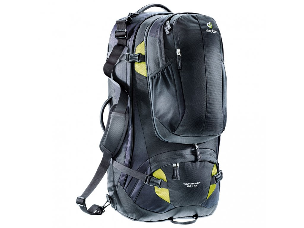 Deuter Traveller 80+10 black-moss - Batoh  + PowerBanka nebo pouzdro zdarma + sleva 10% s kódem CERVEN10