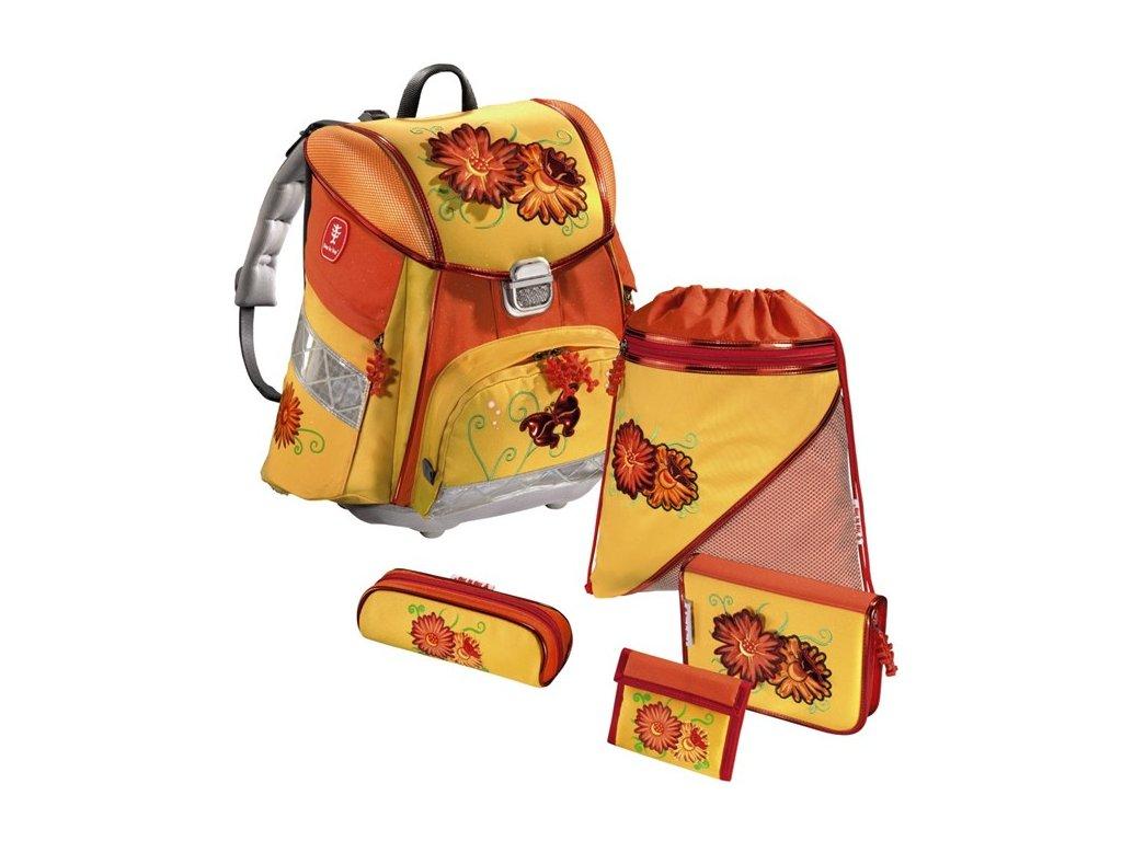 Hama - Školní batoh - set, Step by Step KVĚTINY  + PowerBanka nebo pouzdro zdarma