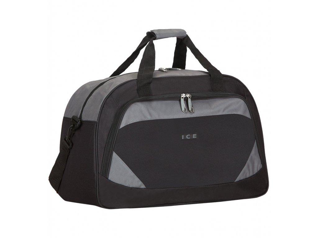 Cestovní taška ICE 7558 - černá/šedá