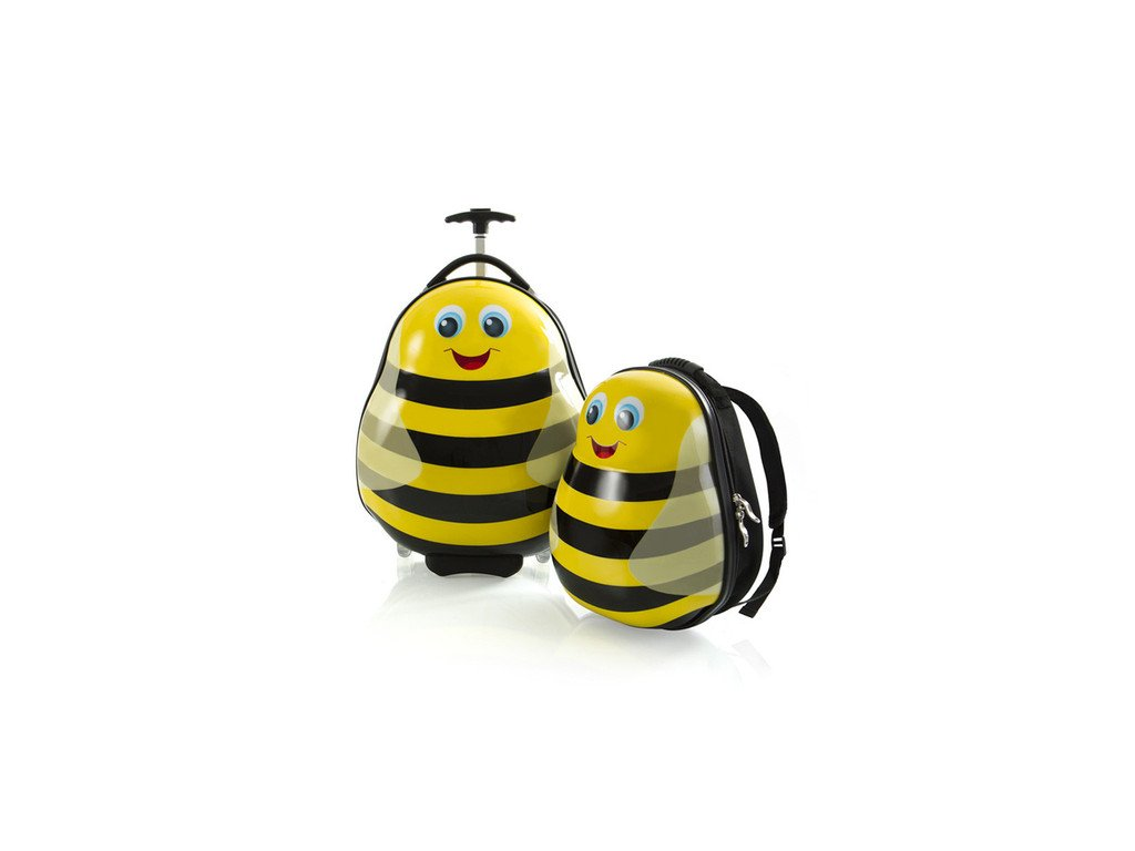 Heys Travel Tots Lightweight Kids Bumble Bee – sada batohu a kufru  + Pouzdro zdarma