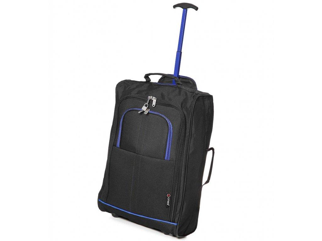 Kabinové zavazadlo CITIES T-830/1-55 - černá/modrá