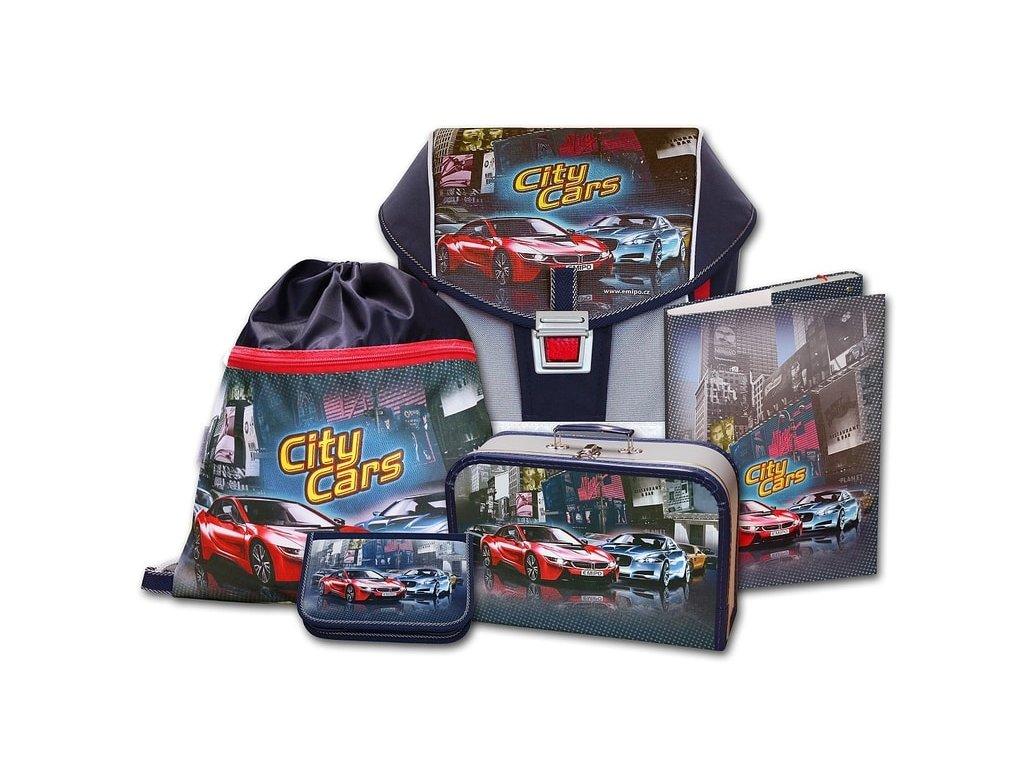 Školní aktovkový set ERGO ONE City Cars 5-dílný + Pouzdro zdarma ... 631327c8ff