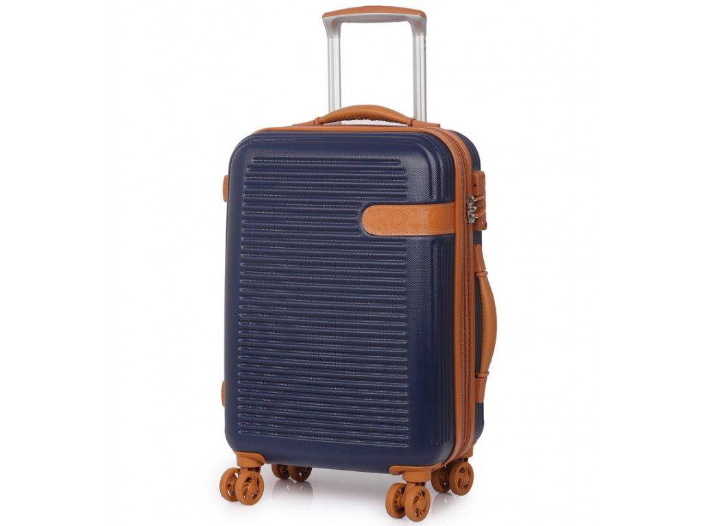 Kabinové zavazadlo ROCK TR-0159/3-S ABS - modrá  + PowerBanka nebo pouzdro zdarma