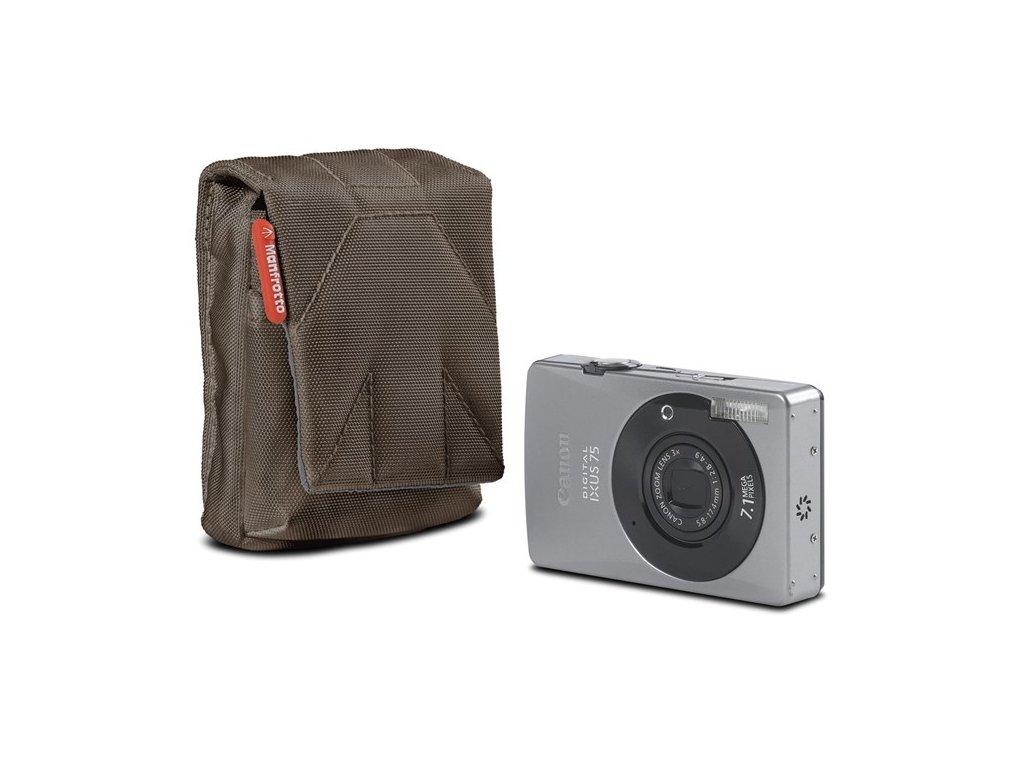 Manfrotto STILE SCP-BC NANO, pouzdro na kompaktní fotoaparát vertical, olivově hnědá