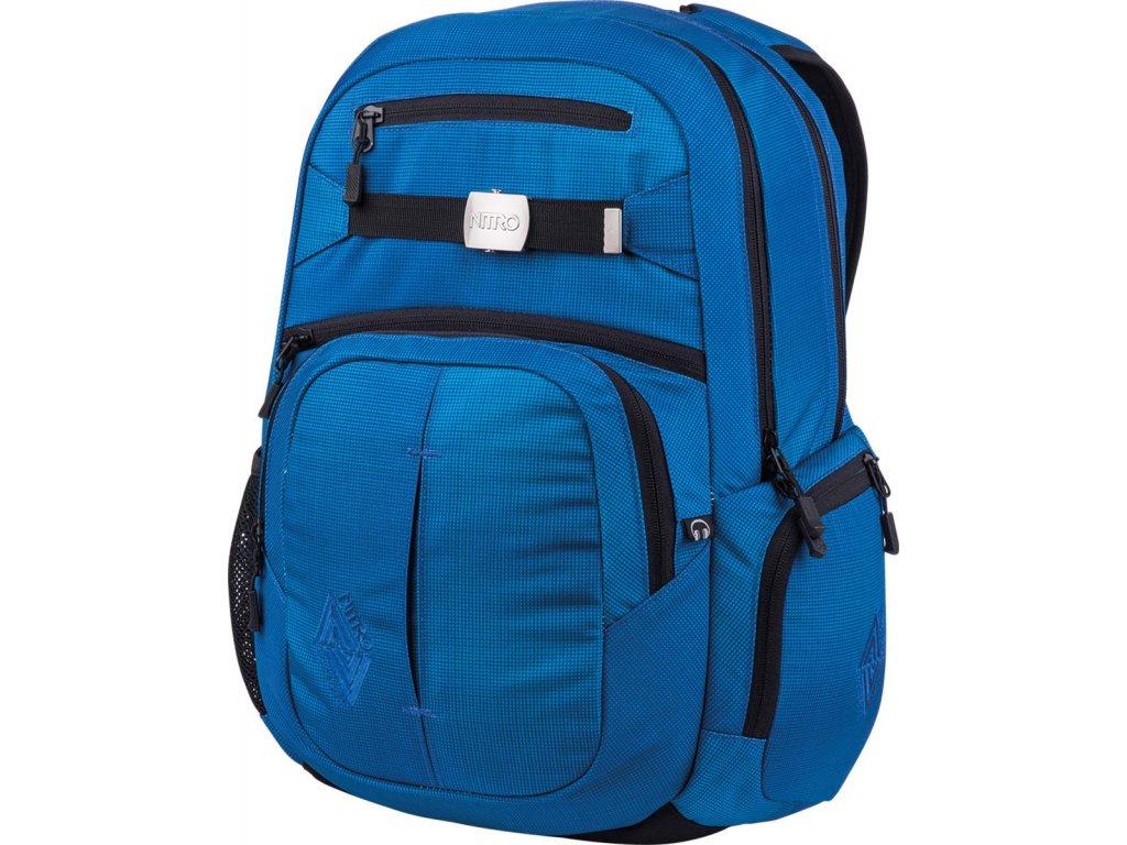 NITRO batoh HERO blur brilliant blue  + Pouzdro zdarma + sleva 10% s kódem CERVEN10