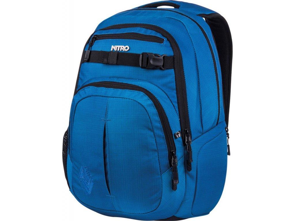 NITRO batoh CHASE blur brilliant blue  + Pouzdro zdarma + sleva 10% s kódem KVETEN10