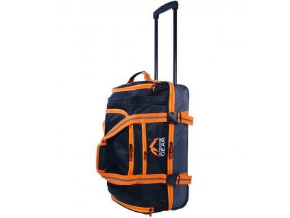 """Cestovní taška na kolečkách GEAR T-805/22"""" - černá/oranžová  + Brašna zdarma"""