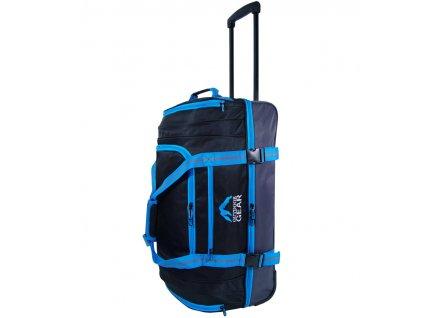 """Cestovní taška na kolečkách GEAR T-805/26"""" - černá/modrá  + Pouzdro zdarma"""