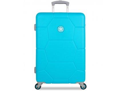 Cestovní kufr SUITSUIT® TR-1250/3-M ABS Caretta Peppy Blue  + Pouzdro zdarma