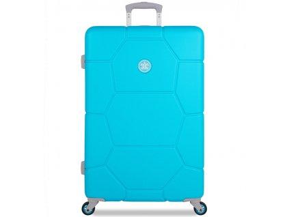 Cestovní kufr SUITSUIT® TR-1250/3-L ABS Caretta Peppy Blue  + Pouzdro zdarma