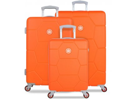 Sada cestovních kufrů SUITSUIT® TR-1249/3 ABS Caretta Vibrant Orange  + Pouzdro zdarma