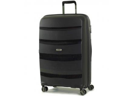 Cestovní kufr ROCK TR-0174/3-L PP - černá  + Pouzdro zdarma