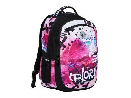 Studentský batoh 2v1 VIKI Winter  + Pouzdro zdarma