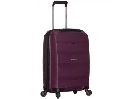Kabinové zavazadlo SIROCCO T-1208/3-S PP - fialová  + Pouzdro zdarma
