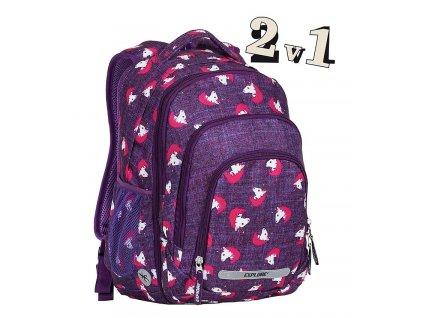 Školní batoh 2v1 BAR Horses  + Pouzdro zdarma