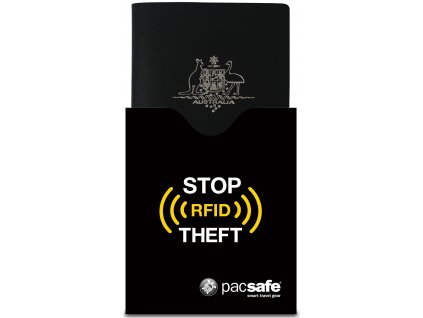 132248 pacsafe penezenka rfidsleeve 50 passport black