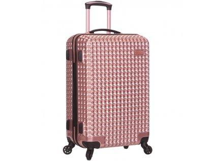 Cestovní kufr SIROCCO T-1195/3-M PC - růžová  + PowerBanka nebo pouzdro zdarma