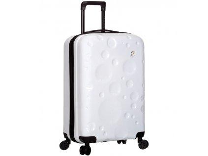 Kabinové zavazadlo SIROCCO T-1194/3-S PC - bílá  + pouzdro zdarma