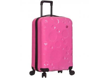 Kabinové zavazadlo SIROCCO T-1194/3-S PC - růžová  + pouzdro zdarma