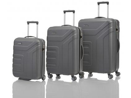 Travelite Vector 2w S, 4w M,L Anthracite – sada 3 kufrů  + PowerBanka nebo pouzdro zdarma