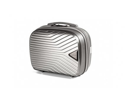 March Gotthard Beauty Case Silver Metallic