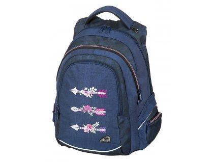 Studentský batoh FAME Arrow Blue  + Pouzdro zdarma